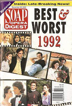 Soap Opera Digest December 22, 1992