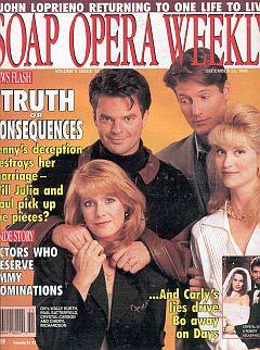 Soap Opera Weekly December 22, 1992
