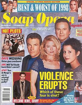 Soap Opera Magazine December 22, 1998
