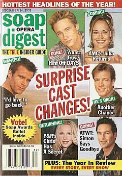 Soap Opera Digest Dec. 24, 2002