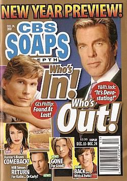 CBS Soaps In Depth December 24, 2007
