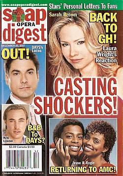 Soap Opera Digest Dec. 25, 2007