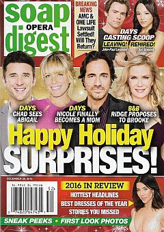 December 26, 2016 issue of Soap Opera Digest magazine