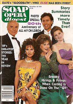 Soap Opera Digest December 26, 1989