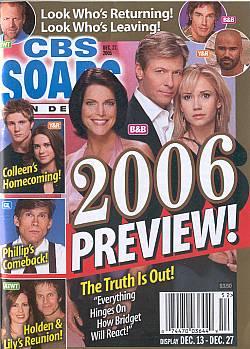 CBS Soaps In Depth December 27, 2005