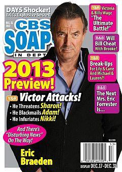 December 31, 2012 issue of CBS Soaps In Depth magazine