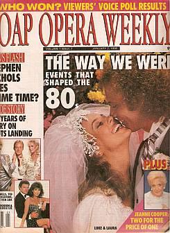 January 2, 1990 issue of Soap Opera Weekly magazine