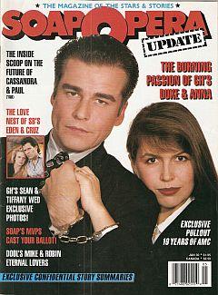 January 30, 1989 issue of Soap Opera Update magazine