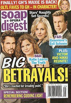 January 31, 2012 issue of Soap Opera Digest magazine