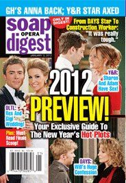 Soap Opera Digest January 3, 2012