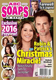 January 4, 2016 issue of ABC Soaps In Depth magazine
