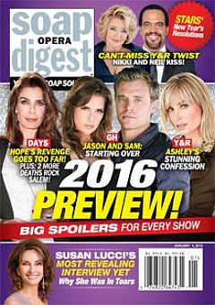 January 4, 2016 issue of Soap Opera Digest magazine