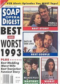 Soap Opera Digest - January 4, 1994