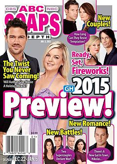 January 5, 2015 issue of ABC Soaps In Depth soap opera magazine