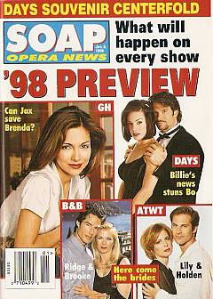 January 6, 1998 issue of Soap Opera News magazine