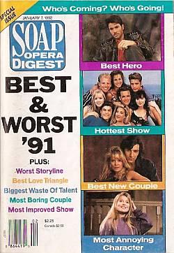 Soap Opera Digest January 7, 1992