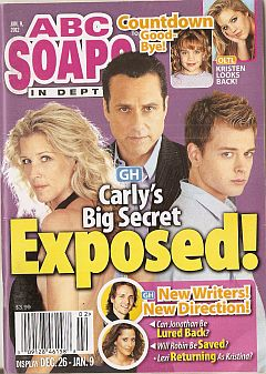 January 9, 2012 issue of ABC Soaps In Depth magazine
