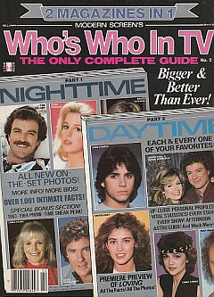 1983 of Modern Screen's Who's Who In TV magazine Issue No. 2