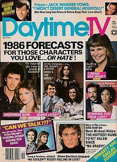 February 1986 issue of Daytime TV soap opera magazine