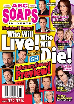 February 16, 2015 issue of ABC Soaps In Depth magazine
