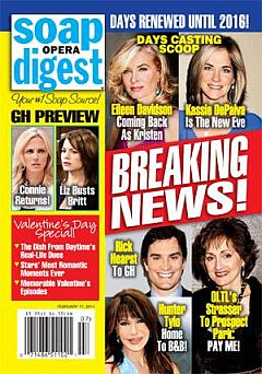 Soap Opera Digest Feb. 17, 2014