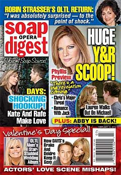 February 18, 2013 issue of Soap Opera Digest magazine