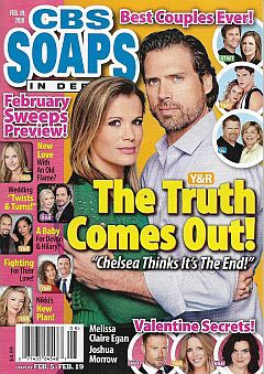February 19, 2018 issue of CBS Soaps In Depth magazine