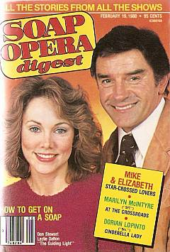 Soap Opera Digest with Don Stewart & Lezlie Dalton of Guiding Light on the cover