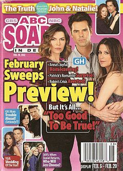 February 20, 2012 issue of ABC Soaps In Depth magazine