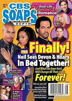 February 23, 2015 issue of CBS Soaps In Depth magazine