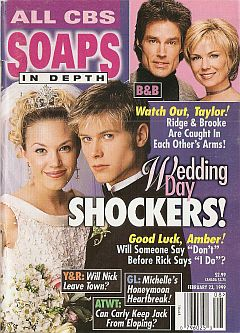 February 23, 1999 issue  of CBS Soaps In Depth magazine