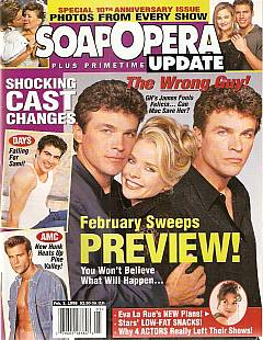 February 3, 1998 issue of Soap Opera Update magazine