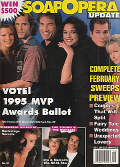 February 7, 1995 issue of Soap Opera Update magazine
