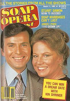Soap Opera Digest with Stuart Damon & Leslie Charleson of General Hospital on the cover