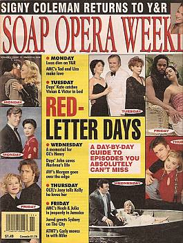 Soap Opera Weekly March 12, 1996
