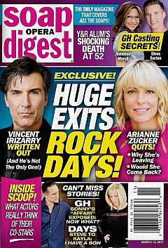 March 13, 2017 issue of Soap Opera Digest magazine