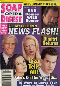 Soap Opera Digest - March 14, 2000