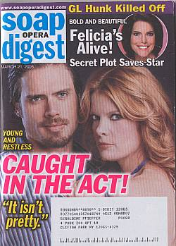 Soap Opera Digest March 21, 2006