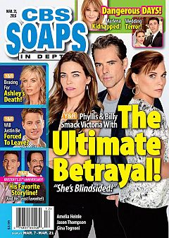 March 21, 2016 issue of CBS Soaps In Depth magazine