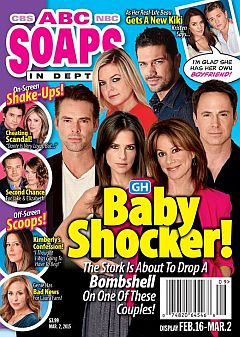 March 2, 2015 issue of ABC Soaps In Depth magazine