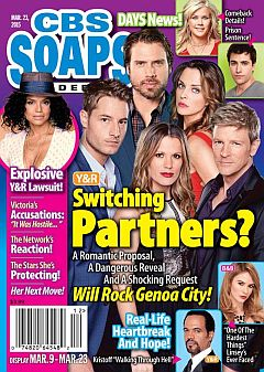March 23, 2015 issue of CBS Soaps In Depth magazine