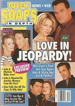 March 23, 1999 issue of NBC Soaps In Depth soap opera magazine
