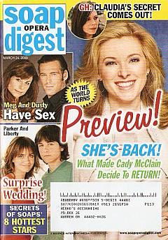 Soap Opera Digest March 24, 2009