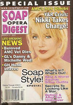 Soap Opera Digest March 27, 2001