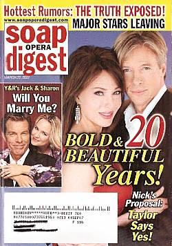 Soap Opera Digest March 27, 2007