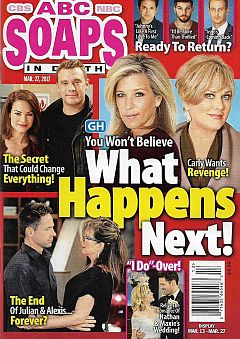 March 27, 2017 issue of ABC Soaps In Depth magazine