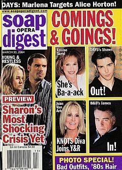 Soap Opera Digest March 30, 2004