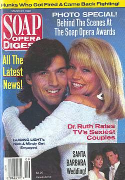 Soap Opera Digest March 3, 1992