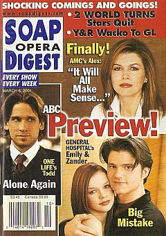 Soap Opera Digest March 6, 2001