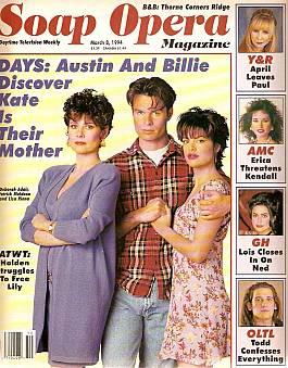 Soap Opera Magazine March 8, 1994